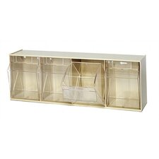 Clear Tip Out Bins (4 Compartments)