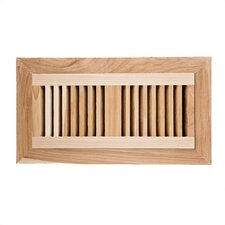 """6.75"""" x 14.5"""" Hickory Wood Flush Mount Vent Cover"""