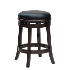 "Boraam Backless 24"" Swivel Bar Stool with Cushion"