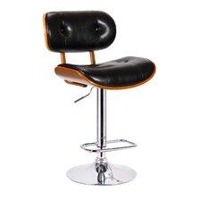 Smuk Adjustable Height Swivel Bar Stool with Cushion