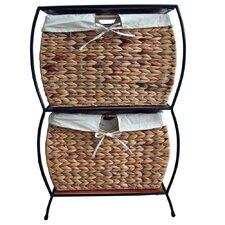 Seagrass Basket Storage Pangaea Rattan 2 Drawer File Cabinet