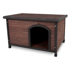Aspen Pets Ruff Hauz Wood Offset Dog House