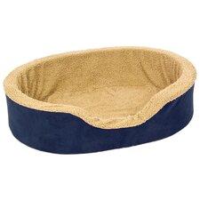 Plush Lounger Bolster Dog Bed