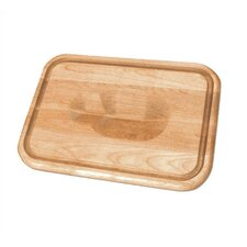 "16"" Versatile Meat Holding Wedge / Trench Cutting Board"