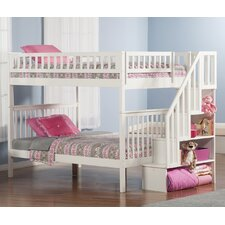 Woodland Full Over Full Bunk Bed with Stairs