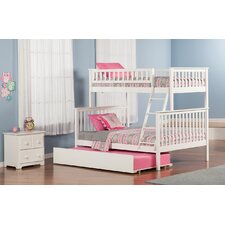 Woodland Twin Over Full Standard Bunk Bed with Twin Urban Lifestyle Trundle