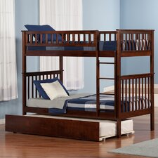 Woodland Twin Over Twin Standard Bunk Bed with Twin Urban Lifestyle Trundle