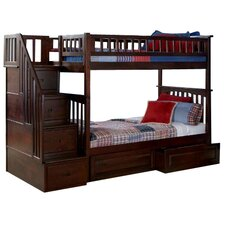 Columbia Bunk Bed with Storage & Stairs