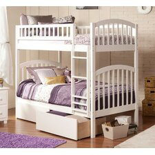 Richland Twin Over Twin Bunk Bed with Storage