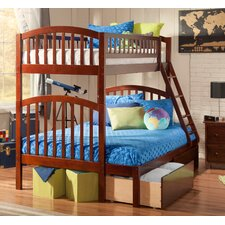 Richland Twin Over Full Bunk Bed with Storage