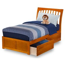 Orleans Flat Panel Footboard with 2 Urban Bed Drawer