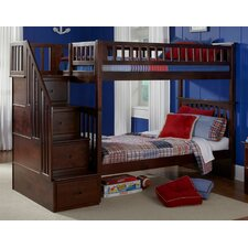 Columbia Twin Over Full Storage Staircase Bunk Bed