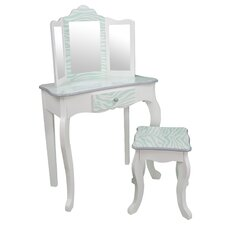 Fashion Prints Vanity Set with Mirror