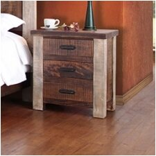 Magnolia 3 Drawer Nightstand