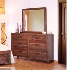Montecarlo 6 Drawer Dresser with Mirror