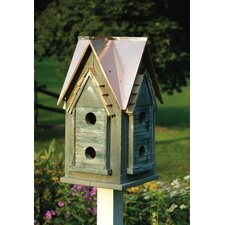 Copper Mansion Birdhouse