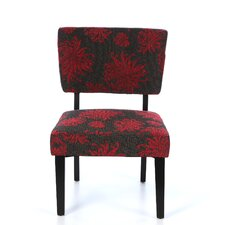 Taylor Fabric Side Chair in Red & Gray