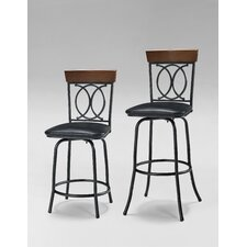Adjustable Height Swivel Bar Stool with Cushion (Set of 3)