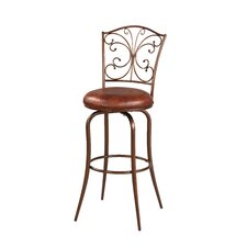 "Butterfly 30"" Swivel Bar Stool with Cushion"