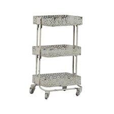 Pierced Metal 3 Tier Shelf