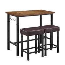 Austin 3 Piece Pub Table Set