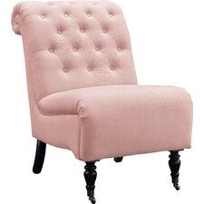 Cora Roll Back Tufted Parson Chair