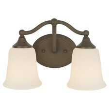 Claridge 2 Light Bath Vanity Light