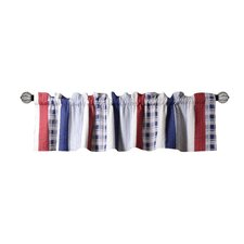 """Nautical Stripe Quilted 84"""" Curtain Valance"""