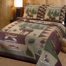 Moose Lodge 3 Piece Quilt Set