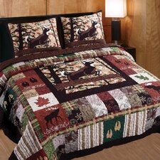 Whitetail Lodge 3 Piece Quilt Set
