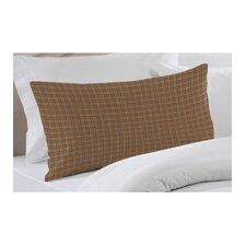 Dark Brown Plaid Pillow Sham