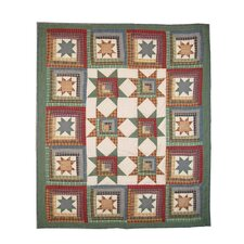 Cottage Star Cotton Throw Quilt