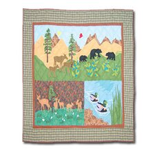 Natures Splendor Cotton Crib Quilt