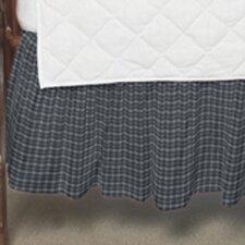 Blue and White Plaid Fabric Crib Dust Ruffle