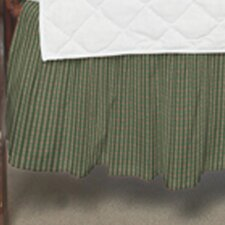 Hunter Green and Tan Check Fabric Crib Dust Ruffle