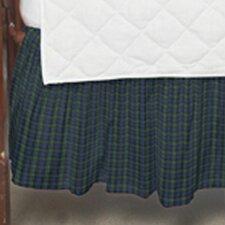 Block Watch Plaid Fabric Crib Dust Ruffle