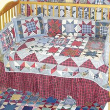 Denim Burst Crib Quilt