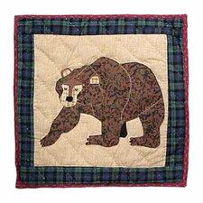 Cabin Bear Cotton Throw Pillow