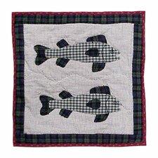 Cabin Fish Cotton Throw Pillow