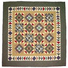 Square Diamond Cotton Throw Quilt