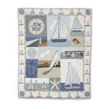 Nautical Cotton Throw Quilt