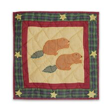 Northwood Star Beaver Cotton Throw Pillow
