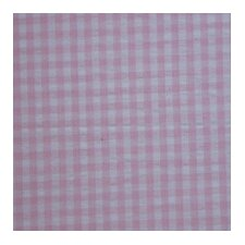Baby Pink and White Gingham Check Cotton Curtain Panels (Set of 2)