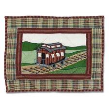 Train Cotton Boudoir/Breakfast Pillow