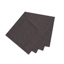 Black With Tan Gold Stripes Fabric Napkin (Set of 16)