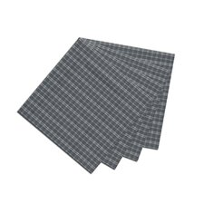 Blue and White Plaid Fabric Napkin (Set of 4)