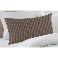 Brown and White Plaid Pillow Sham