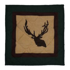 Elk Trail Cotton Throw Pillow