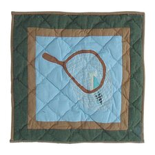 Fly Fishing Cotton Throw Pillow
