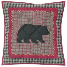 Winter North Woods Cotton Throw Pillow